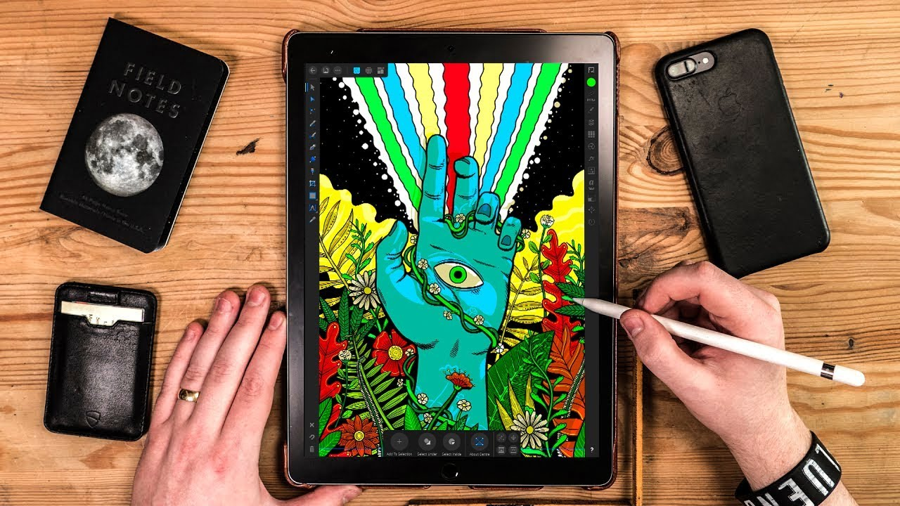 A DESIGNERS Review : Affinity Designer on iPad Pro 2018