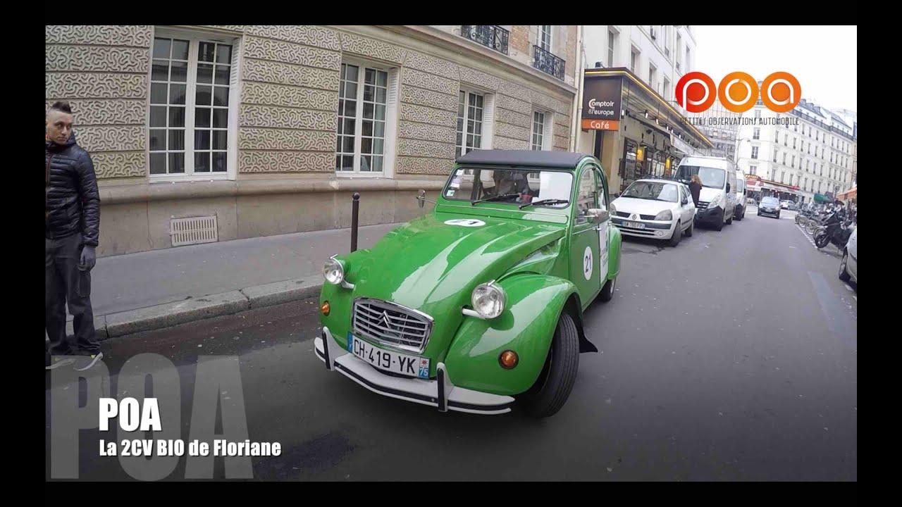 Citroën 2CV électrique : la 2 CV bio de Floriane - YouTube