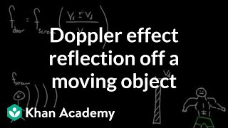 Doppler effect: reflection off a moving object | Physics | Khan Academy