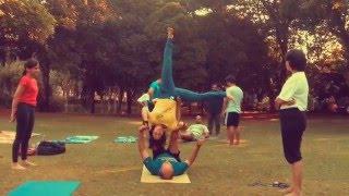 AcroYoga Cartwheel Variations