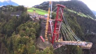 Bau der Taminatalbrücke - Bridge constuction site in Switzerland