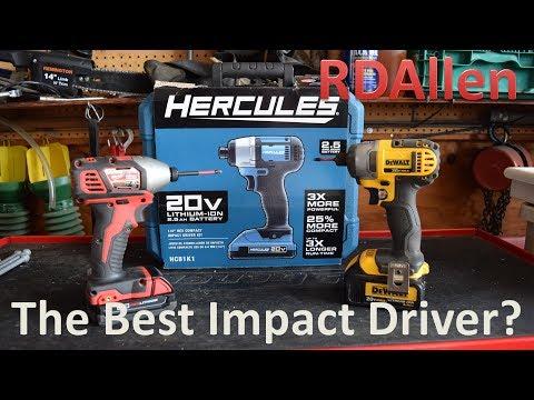 Hercules Impact Driver Better than the Dwalt and Milwaukee