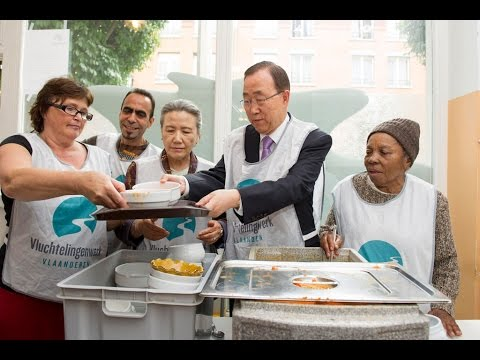 Soup Kitchen For Refugees In Brussels
