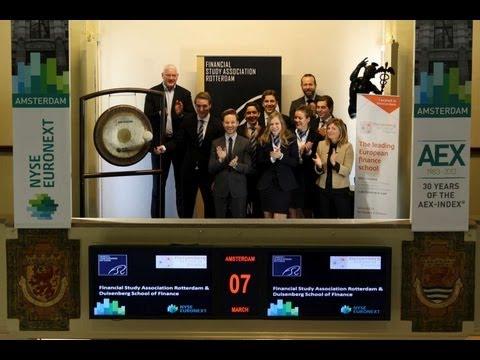 Financiële Studievereniging Rotterdam en Duisenberg school of finance luiden gong