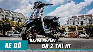 Vespa SPRINT 2018 độ phuộc Zelioni, pô MARUS Limited độc nhất Việt Nam | Xedoisong.vn