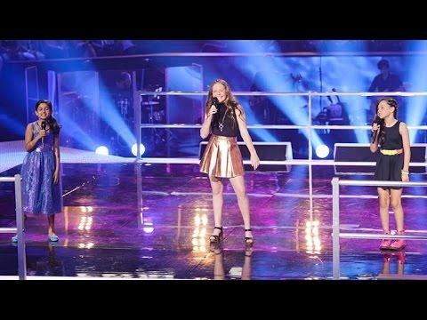 Elina, Grace and Jasmine Sing Burn | The Voice Kids Australia 2014