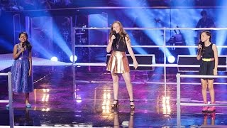 vuclip Elina, Grace and Jasmine Sing Burn | The Voice Kids Australia 2014