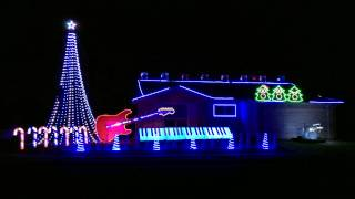 Cops Theme Song - Bad Boys (Inner Circle) Christmas Light Show 2014