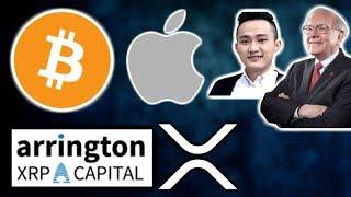 BITCOIN $7,600 Support - Apple CryptoKit - Arrington XRP Cap Bullish XRP - Justin Sun Warren Buffet