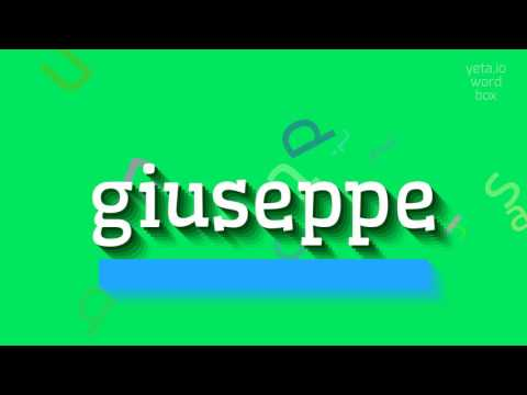 "How to say ""giuseppe""! (High Quality Voices)"