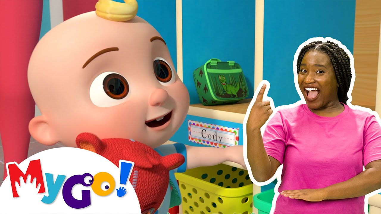 Download First Day of School | MyGo! Sign Language For Kids | CoComelon - Nursery Rhymes | ASL