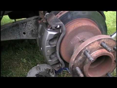 Front Brake Caliper Removal and Replacement Ford F350 DRW Diesel