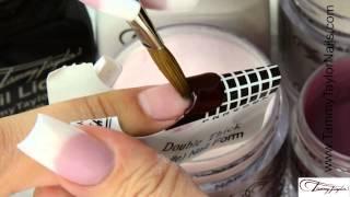 ♡ Tammy Taylor 3 Nail Demos-Negative Space-Color French-Matte-Prizma Acrylic