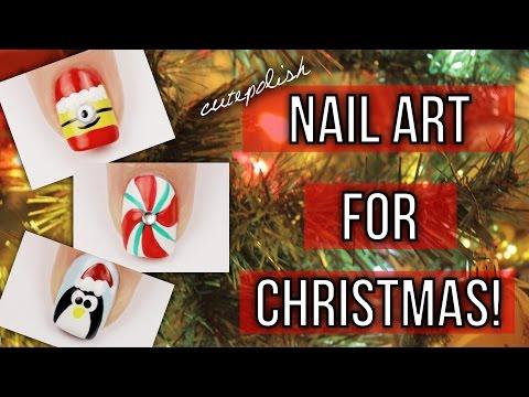 10 Christmas Nail Art Designs! The Ultimate Guide #3!  | DIY Holiday Nail Tutorial