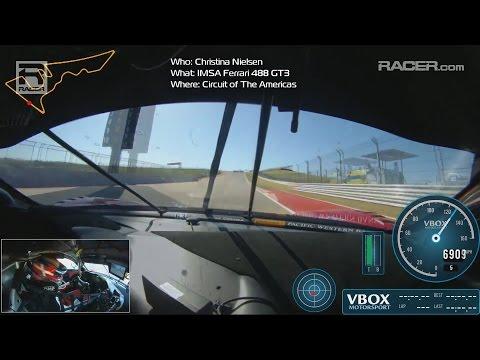 IMSA: Ferrari 488 Christina Nielsen at COTA In-Car
