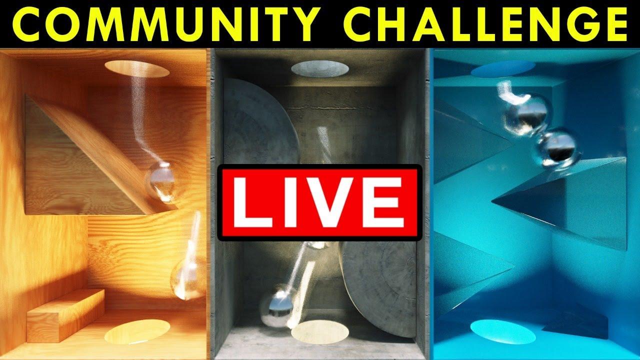 NEW 3D Community Render Challenge LIVE | Dynamic Machines