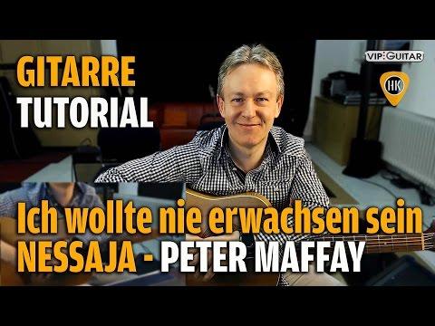 Nessaja - Ich wollte nie erwachsen sein - Peter Maffay - Gitarre Tutorial