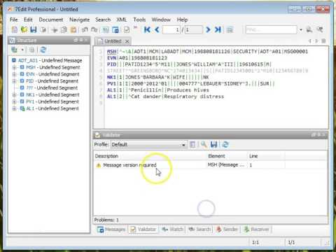 HL7 capture and parse tool