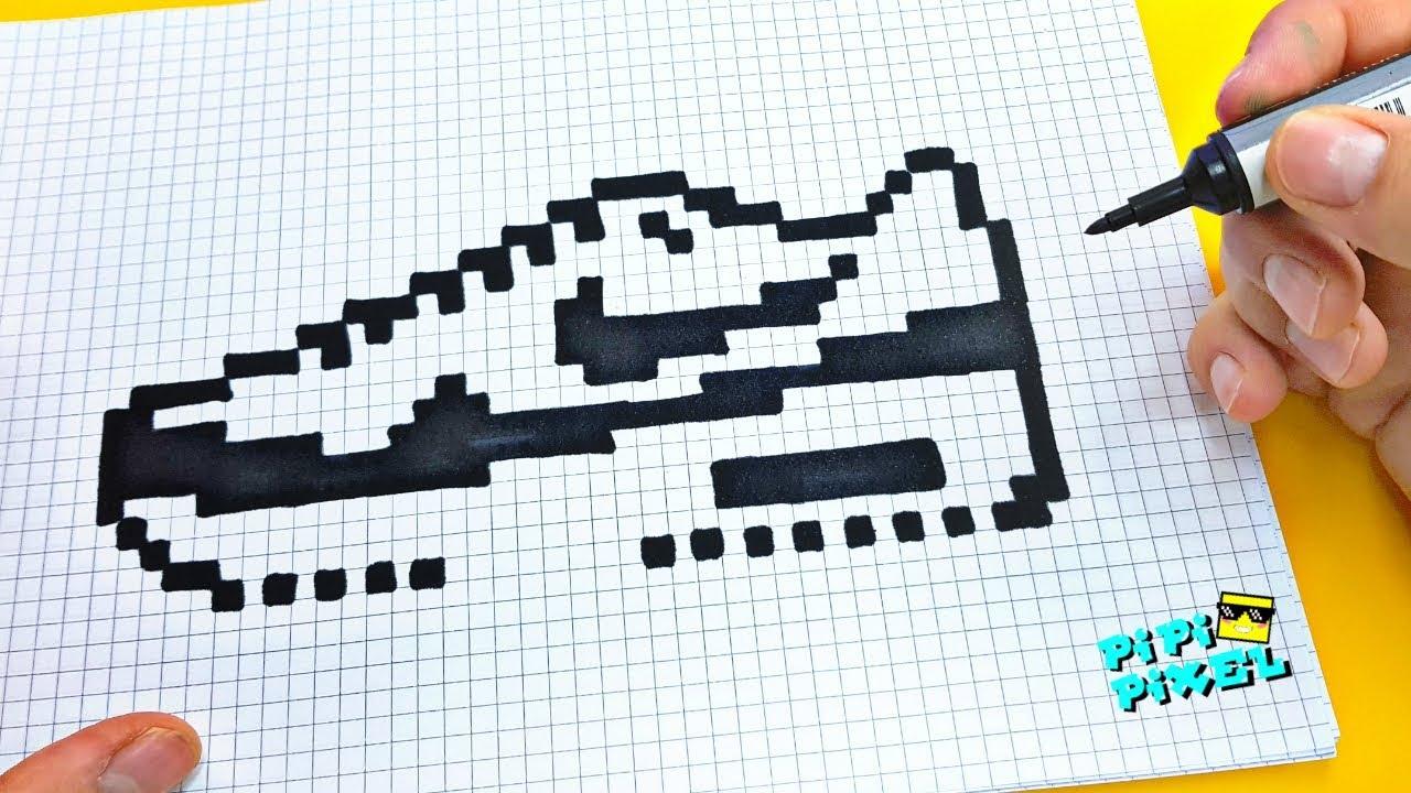 обувь Nike Air Max Pixel Art рисунки по клеточкам обувь найк Nike Shoes как нарисовать