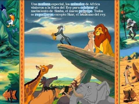 Libro Animado Interactivo: Rey León (Español - Parte 1