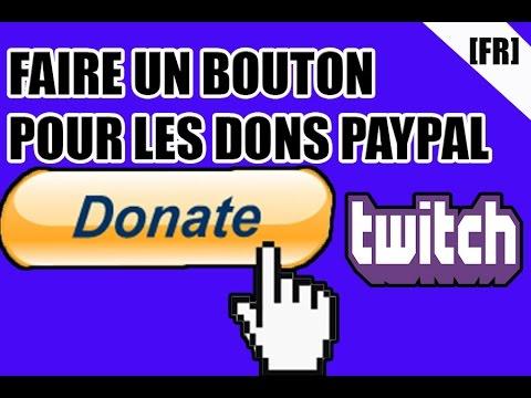 faire un bouton paypal pour twitch le visuel du bouton des dons par photoshop tuto fr youtube. Black Bedroom Furniture Sets. Home Design Ideas