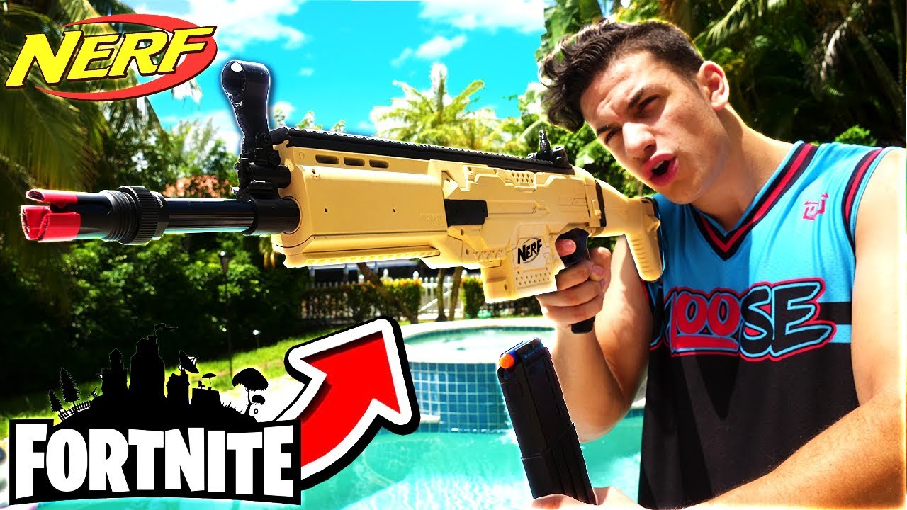 Real Fortnite Scar Nerf Gun 1000 Nerf Gun Youtube