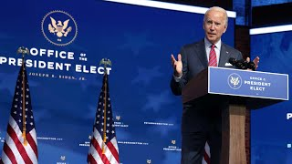 President-elect Joe Biden makes an announcement on his transition into the White House