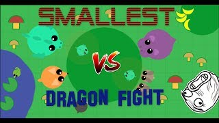 Mope.io SMALLEST DRAGON FIGHT // Mope Bests moments