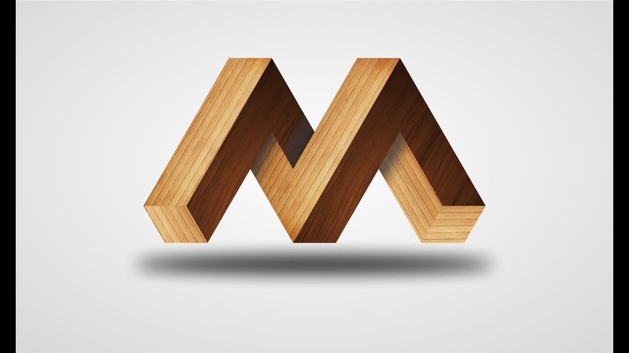 how to make 3d logo tutorial urdu hindi 3d m logo