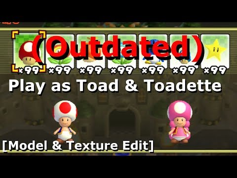 Play as Toad & Toadette in NSMBW [NSMBW Hack ] (+Download) (6.25M View Special)
