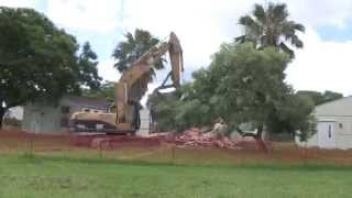 Demolition of South Campus Modulars - Future Home of New Science Building