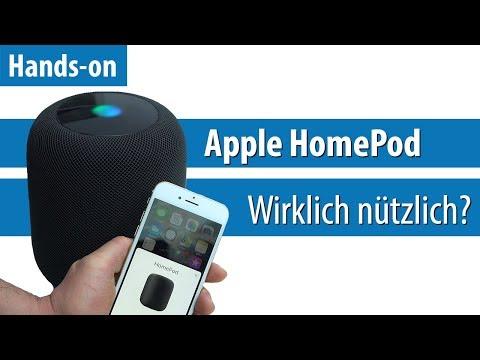 Apple HomePod: Siri will ins Wohnzimmer   Hands-on / Kurz-Test   deutsch / german   4K