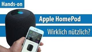 Apple HomePod: Siri für das Wohnzimmer   Hands-on / Kurz-Test   deutsch / german   4K