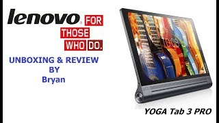 Lenovo TAB 3-Pro - built in Projector & JBL speakers in UAE - a 3-year old kid Un-Boxing