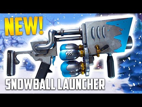 NEW SNOWBALL LAUNCHER!!  (Fortnite Battle Royale)