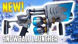 NEW SNOWBALL LAUNCHER!! *10 WIN STREAK* (Fortnite Battle Royale) thumbnail