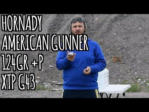 Glock 43 Hornady American Gunner 124grain +p XTP Verses Water Jugs