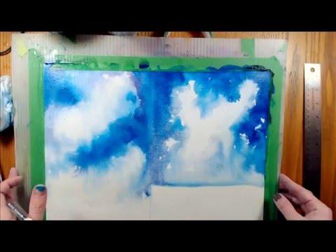 Watercolor Face-off: Wet-in-wet vs. Wet-in-Dry