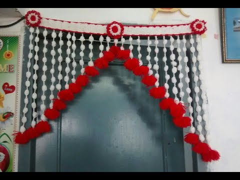how to make wool toran  [for home decorate ] No-2