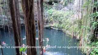 Mexico.Chichen Itza.Cenote Ik Kil.Мексика.Чичен Ица.Сенот Ик Киль(Купание в сеноте Ик Киль в археологическом парке Ик Киль на полуострове Юкатан в Мексике., 2015-05-02T21:45:14.000Z)