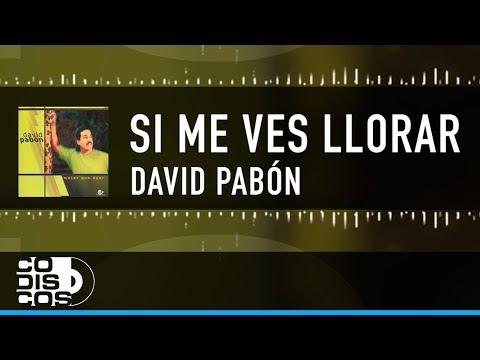 David Pabon - Si Me Ves Llorar  Vídeo Lyric (Letra)