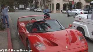 Ferrari F-50 Getting A Parking Ticket