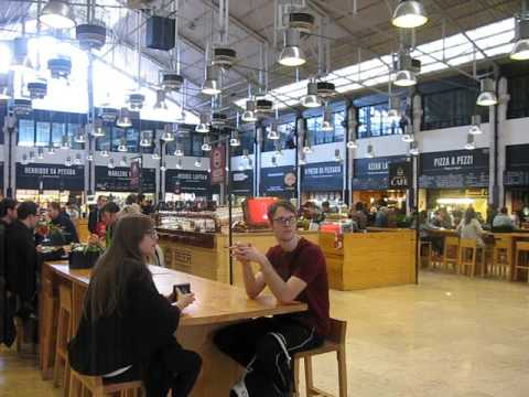 Food court at Cais do Sodre, Lisbon, Portugal