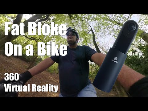 Insta One 360 Bike Ride in the Woods Virtual Reality Video
