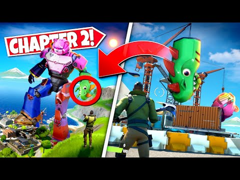 *NEW* PLAYERS FIND MORE MECHA ROBOT EASTER EGGS *ARRIVING* IN CHAPTER 2! (Battle Royale)