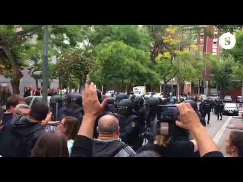 El Barrio canyelles (Nou Barris) rechaza a la policía nacional