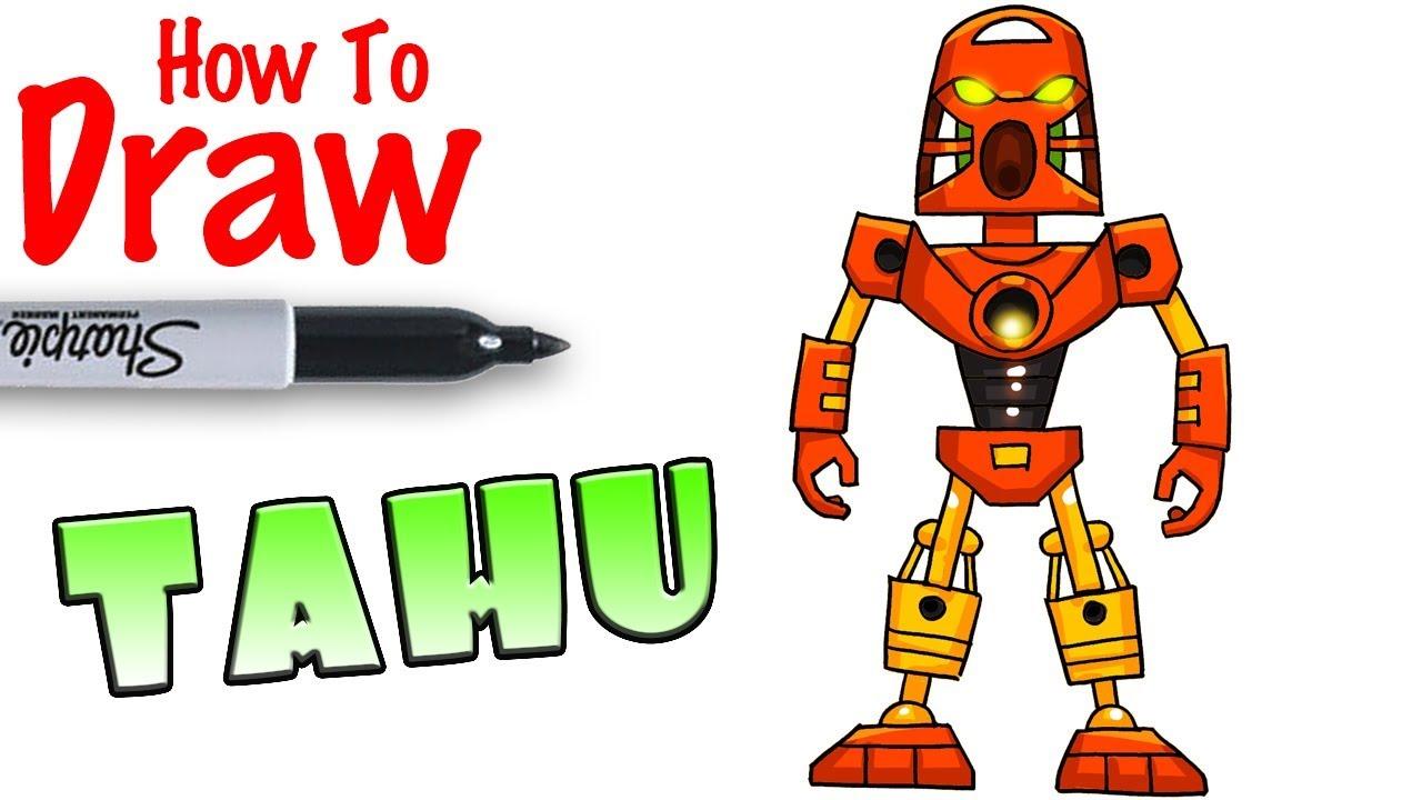 How To Draw Tahu Bionicle Youtube