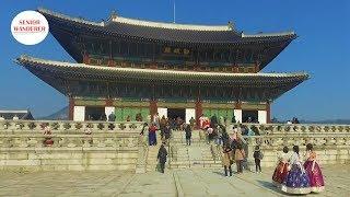 Trip to Seoul, Korea, EP3 - GyeongBokgung 경복궁 - the royal palace, and Gwanghwamun Plaza (night view)