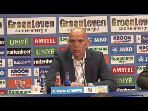 Persconferentie sc Heerenveen - FC Utrecht (play- offs)