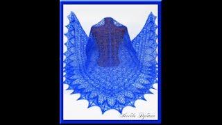 Шаль спицами. Цветочное эхо. Мастер класс.  Часть 1.  Knitting shawl. Part 1.